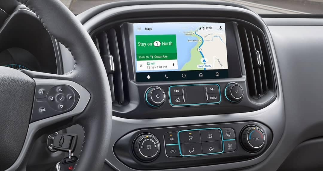 infotainment screen in 2019 Chevy Colorado