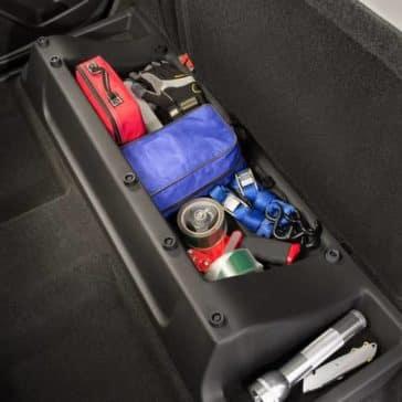 2019 Chevy Colorado under seat storage