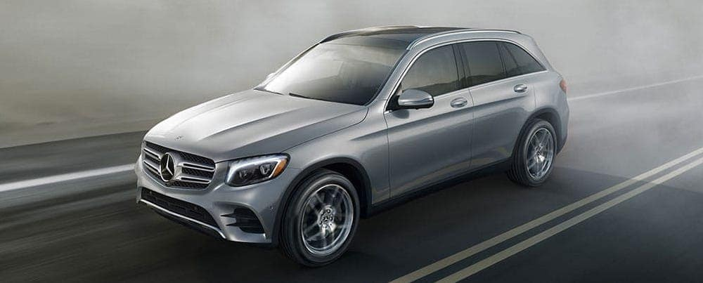 2019 Mercedes-Benz GLC driving on a foggy road
