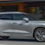 2019 Chevy Blazer in silver ice metallic