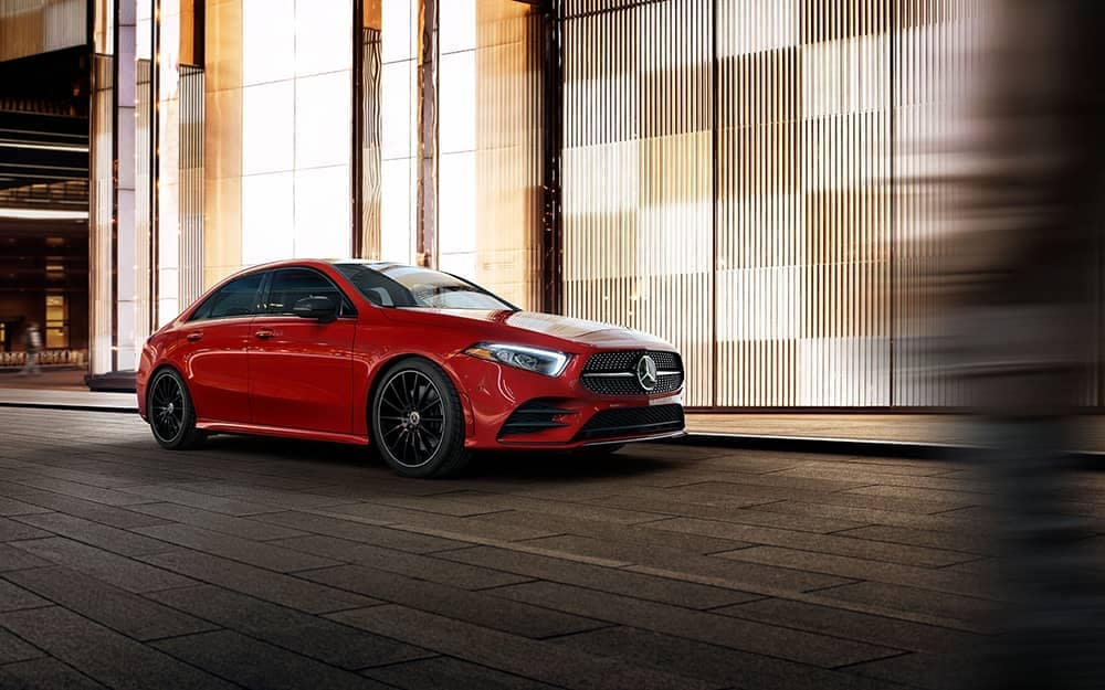 2019 MB A-Class Exterior in red