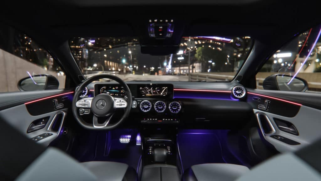2019 MB A-Class interior lit