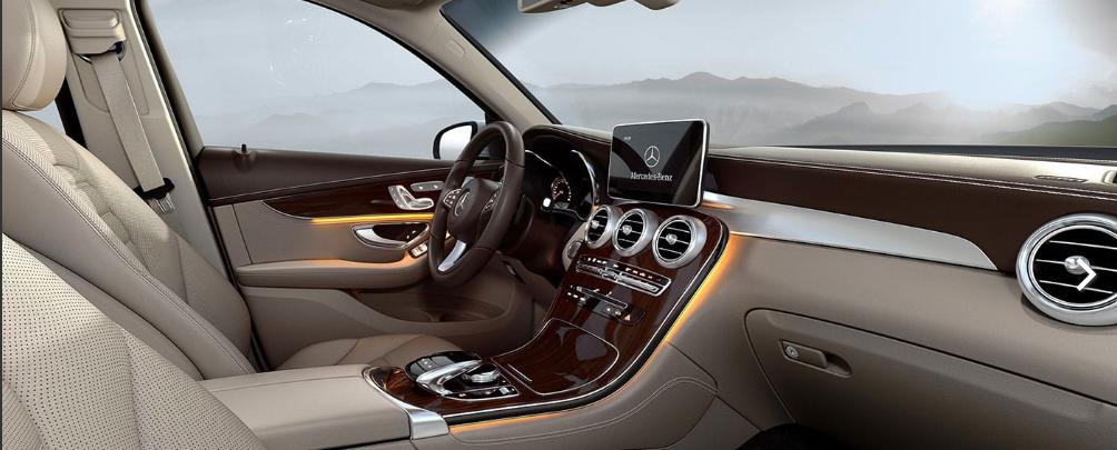 2019 Mercedes-Benz GLC with a tan interior