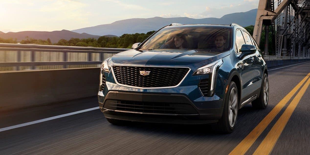 2019 Cadillac XT4 driving down the road