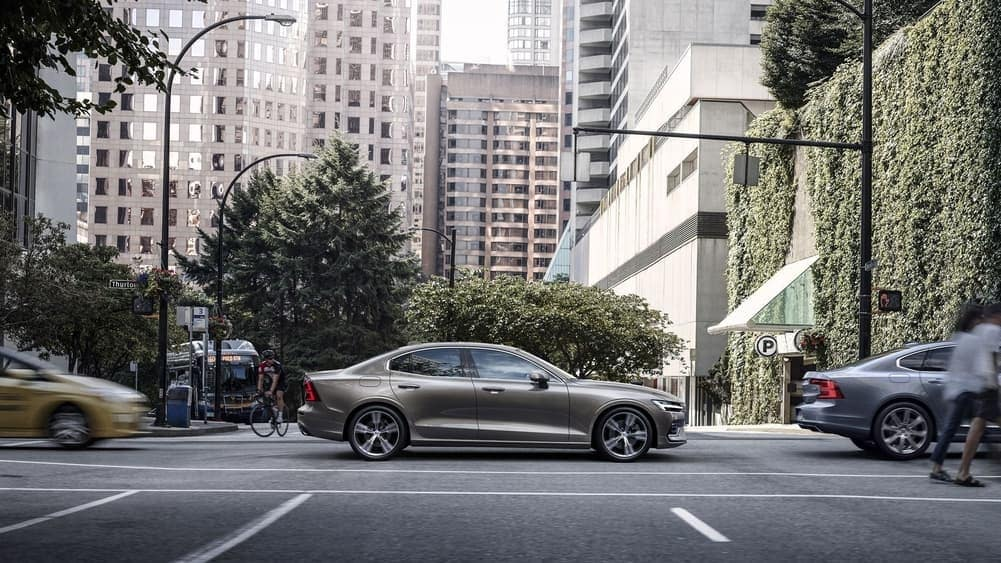2019 Volvo S60 driving down road