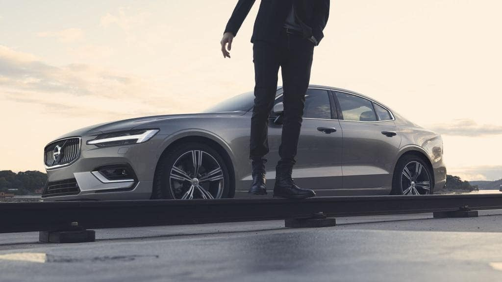 2019 Volvo S60 parked by man