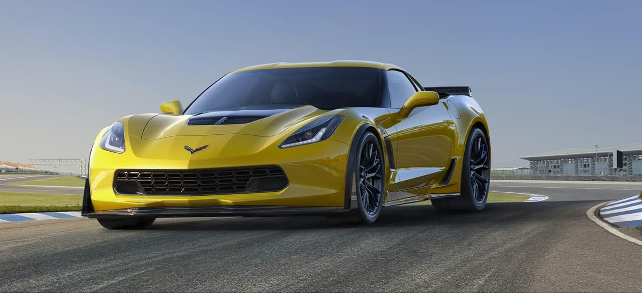 2019 Chevrolet Corvette in yellow on track