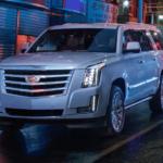 2019 Cadillac Escalade exterior in pearl white
