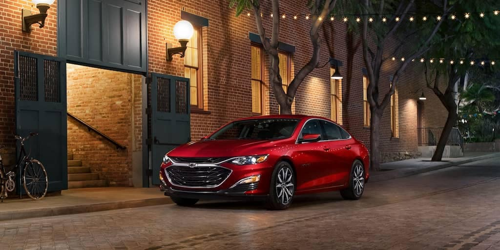 2020 Chevy Malibu At Night