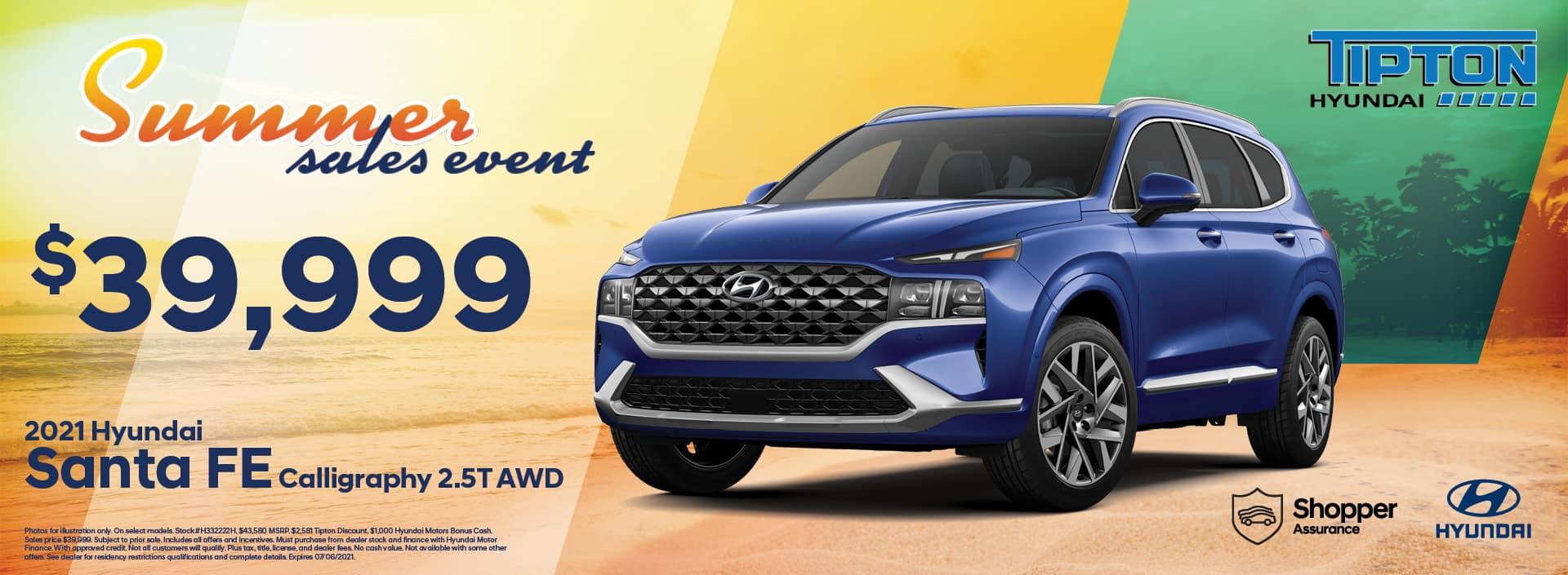 2021 Hyundai Santa Fe | June Specials | Brownsville, TX