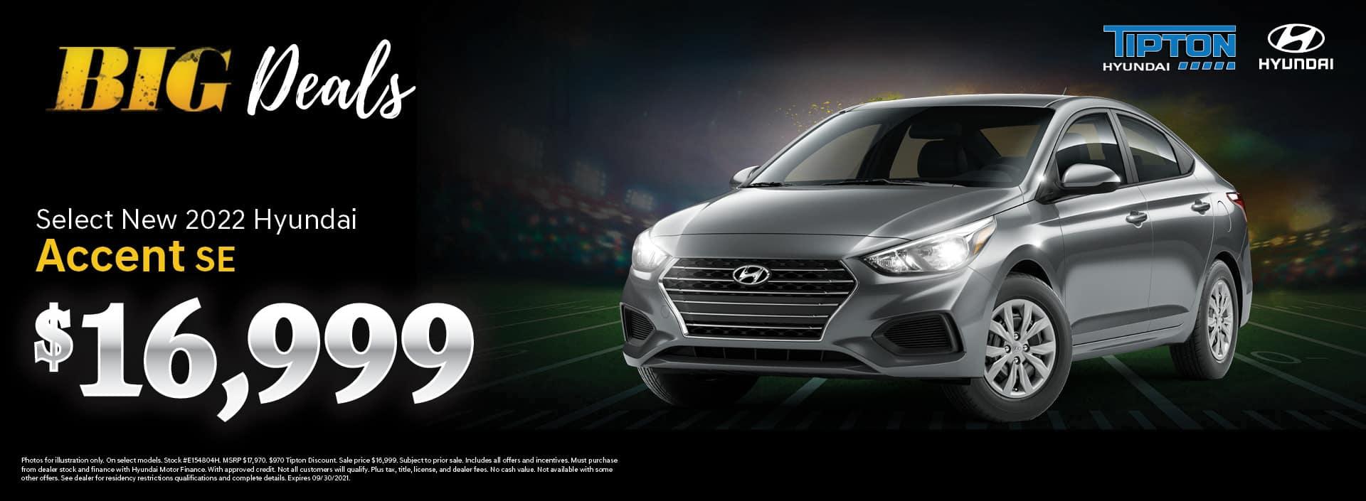 2022 Hyundai Accent - Brownsville, TX