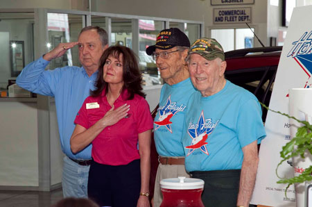 HonorFlightSaluting