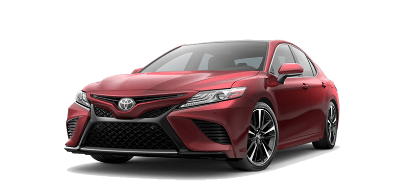 Angled view of the 2018 Toyota Camry