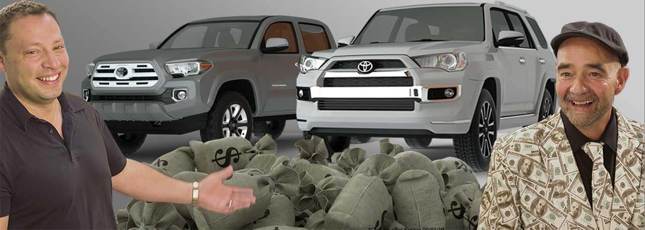 Toyota Tacoma deals and 4runner deals august 2019 Dave and Danny