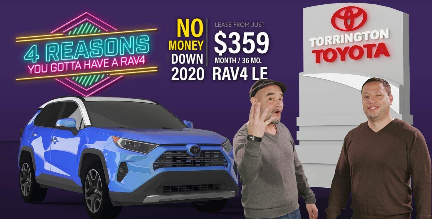 Connecticut Torrington Toyota Rav4 Lease deal offer March 2020