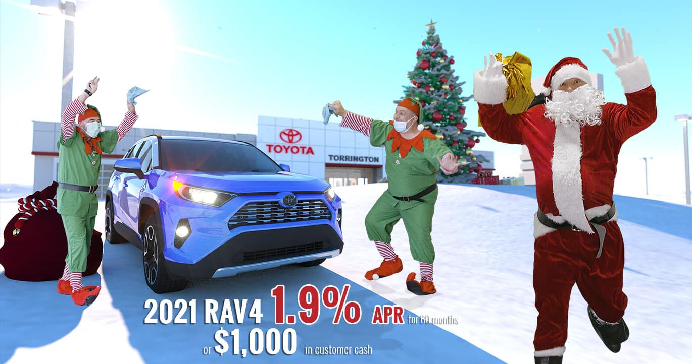 Holiday Finance offers 2021 Toyota Rav4 CT connecticut
