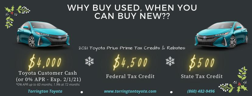 Homepage Prius Tax Credit Banner