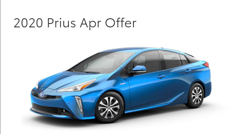 Qualified buyers can finance a new 2020 Prius at 0% APR for 60 Months. On Approved Credit