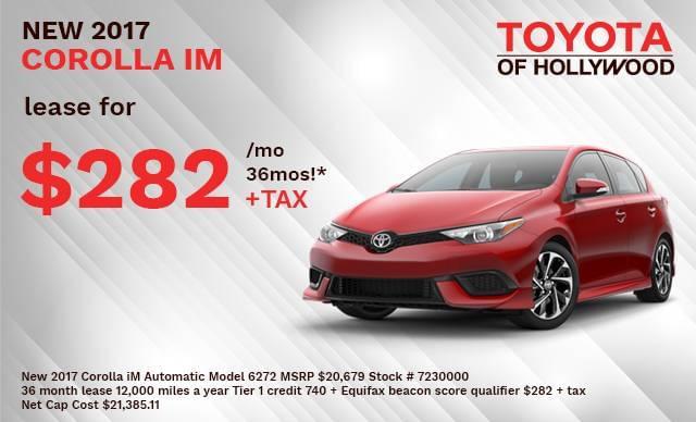 New 2017 Corolla iM Automatic Model 6272
