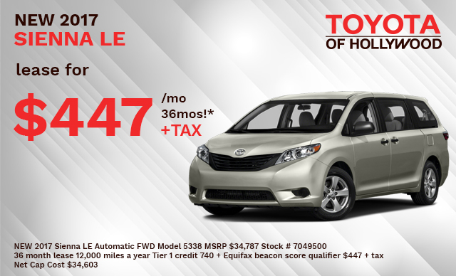 New 2017 Sienna LE Automatic FWD Model 5338