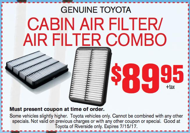 Cabin Air Filter / Air Filter Combo