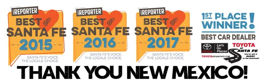 3 Time Winner of Best of Santa Fe