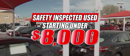 Safety Inspected Used starting under $8000