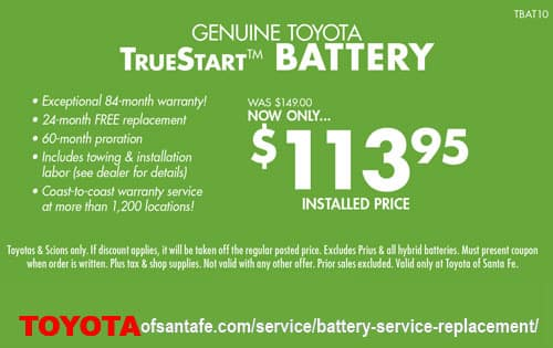 TrueStart Battery installed 113.95