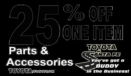 25% off One Item
