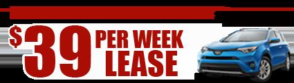 New 2017 Rav4  $39/week Lease