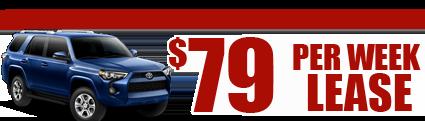 New 4Runner $79/week Lease