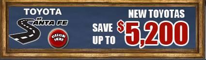 Save up to $5200 off New Toyotas