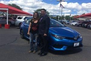Briana with Buddy and Her New Car