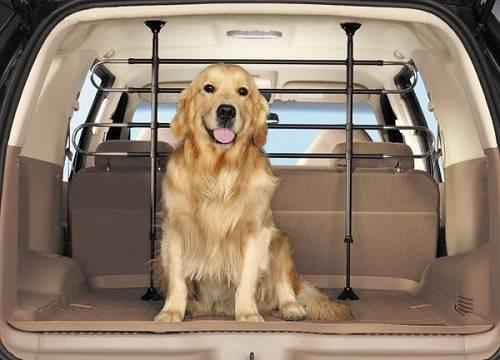 Pet Barriers protect the pet in the back of a large vehicle.