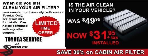 Cabin Air Filter Special Ends Soon