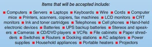 Electronics to be Accepted