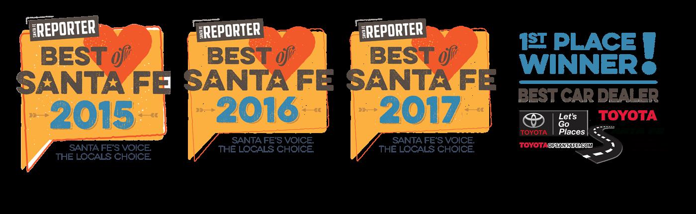 Toyota of Santa Fe Wins Best of Santa Fe Again!