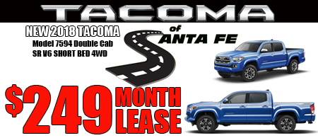 New Tacoma DoubleCab Starting  at $249/month