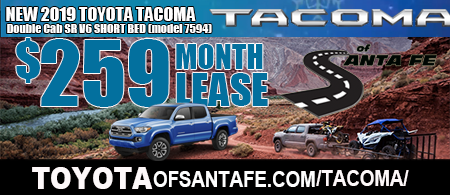 New Tacoma DoubleCab Starting  at $259/month