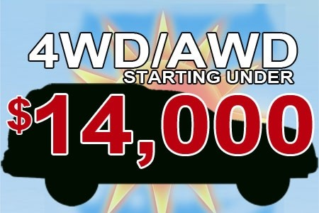 4wd/awd under $14000