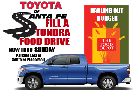Fill A Tundra Food Drive Santa Fe Place Mall