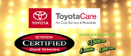 Buddy Plan 12 are the warranties: ToyotaCare, Certified, Used Warranties