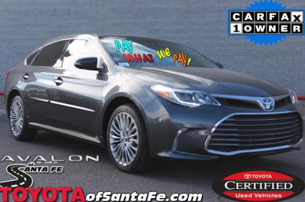 Certified Pre-Owned 2016 Toyota Avalon Limited With Navigation #GU211151P