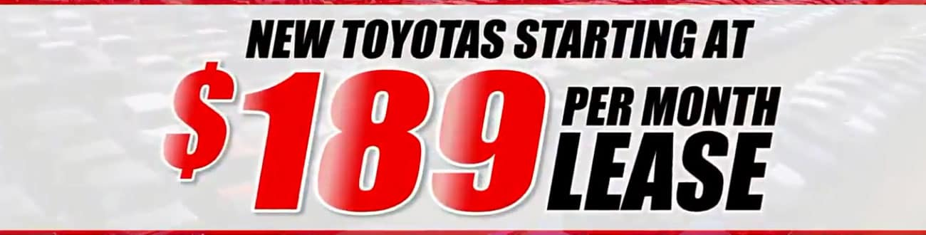 new toyota leases 189 per month