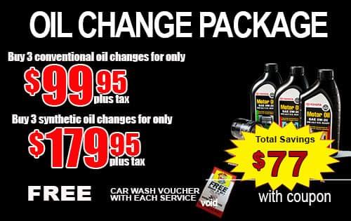 PrePaid Oil Change