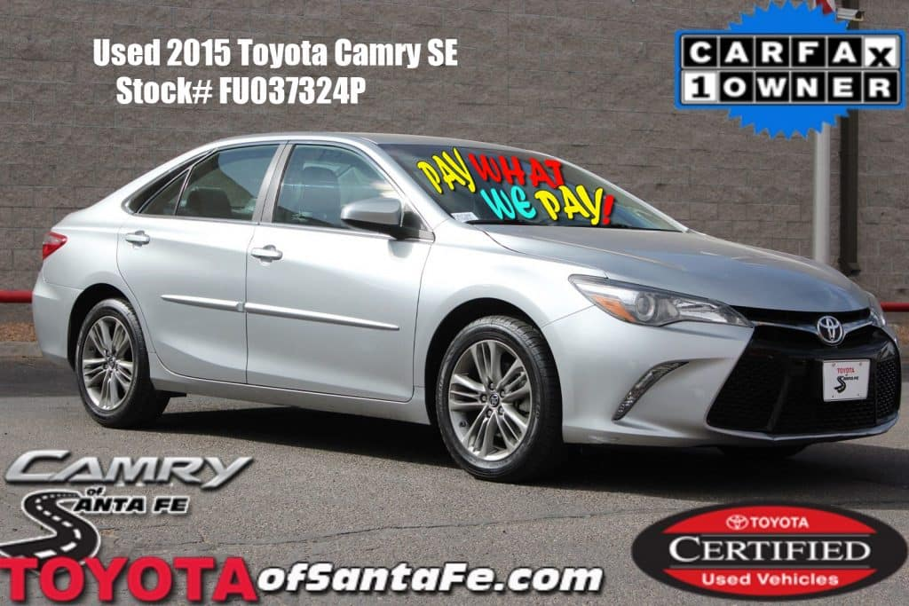 Certified Pre-Owned 2015 Toyota Camry SE FWD Sedan FU037324P
