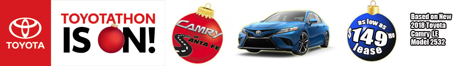 New 2018 Camry as low as $99/month