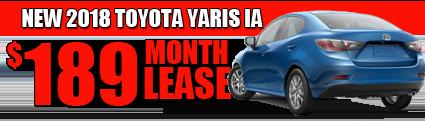 New 2018 Yaris iA  starting at  $189/month