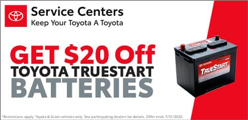 Regional Toyota Battery Promotion