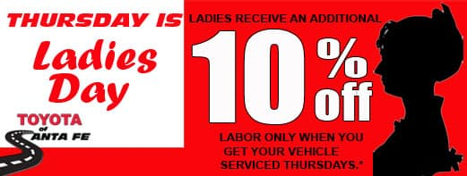 Ladies Day 10% off
